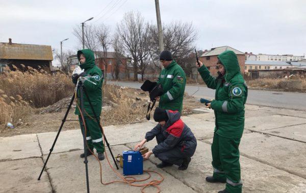 Отбор проб сотрудниками филиала ЦЛАТИ по Астраханской области.